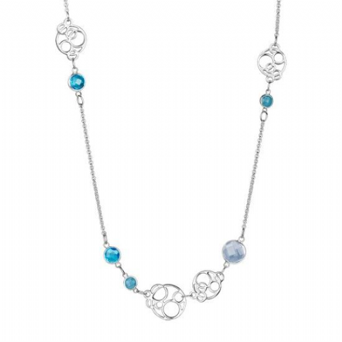 Newbridge Long Necklace With Blue Stones